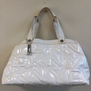 DKNY monogram with patent purse